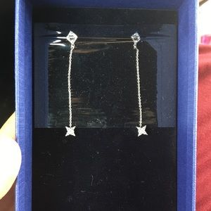 Swarovski Crystal Sterling Silver Drop Earrings